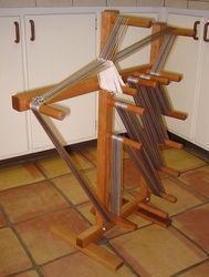 Really cool floor loom.
