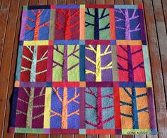 Trees. Look at the background quilting.