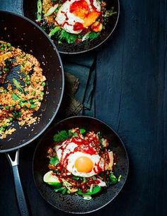 Korean fried cauli rice Check out our Korean fried cauliflower rice recipe. This easy vegetarian dish is gluten free and low in calories, a super quick and simple midweek meal