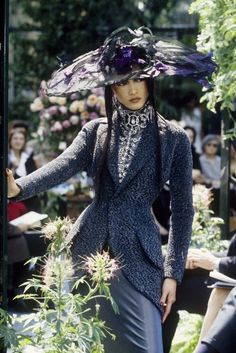 A look from the Christian Dior Fall Couture 1997 collection.