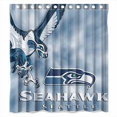 Custom NFL Seattle Seahawks Waterproof Bathroom Shower Curtain Polyester Fabric Size 66 X 72 Amazon Dp B00YWJBE82 Ref
