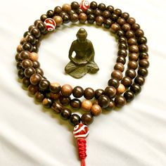 10 mm Tiger Ebonywood Mala Large Wood Mala on by compassionmalas
