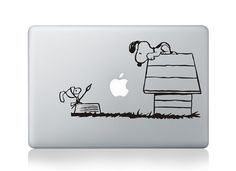 Snoopy -Macbook Decal Macbook Stickers Mac Decals Apple Decal for Macbook Pro Air / iPad / iPhone