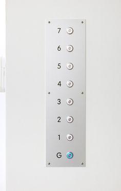 Simple elegant elevator controls