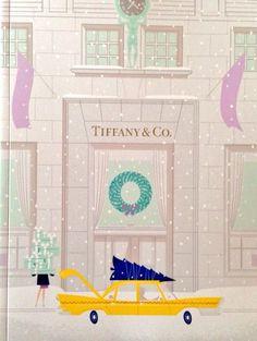 Tiffany & Co. 2014 Holiday Catalog Illustrations Tiffany & Co. Tiffany Und Co, Tiffany & Co., Merry Little Christmas, Pink Christmas, Xmas, Breakfast At Tiffany's Poster, Eat Breakfast, Holiday 2014, I Love Ny