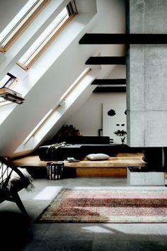 #loft #zolder #dakramen #windows #schuindak #industrial www.leemconcepts.nl