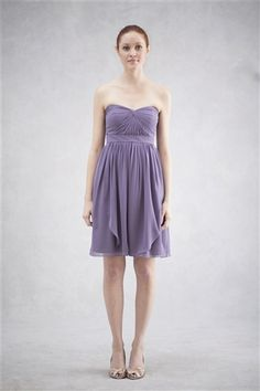 Keira Luxe Chiffon A-line skirt bridesmaid dress assorted colors www.jennyyoo.com