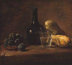 Jean Baptiste Siméon Chardin, Nature morte aux prunes (1730), Frick Collection, New York