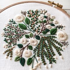 flower embroidery by @madoka_lilac #flowerembroidery #floralembroidery #handembroidery
