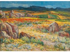 View Namaqualand in spring by Pieter Hugo Naudé on artnet. Browse upcoming and past auction lots by Pieter Hugo Naudé. French Impressionist Painters, Fine Art, Western Art, Painting, Emerging Artists, Contemporary Decorative Art, South African Art, South African Artists, Landscape Art