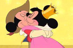 (The Three Musketeers) Mickey and Minnie kiss. Mickey And Minnie Kissing, Minnie Mouse, Mickey Mouse And Friends, Walt Disney, Disney Mickey, Disney Art, Disney Memes, Disney Cartoons, Retro Disney
