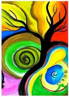 Expressive Art Activity # 21 - Paint a Tree Spontaneously