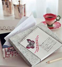 Caixa decorada com artesanato