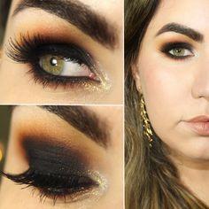 Black And Brown Glamorous Makeup - 21 Dramatic Colorful Makeup Tutorials