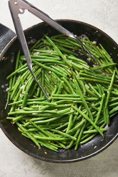 Sauteed Green Beans with Thyme Butter Recipe / When green beans are at their freshest, you only need to cook them lightly with simple seasonings to make them perfect. #greenbeans #stringbeans #sidedish #vegetarian #glutenfree