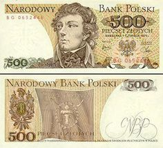 """1974 series Polish banknote, featuring Tadeusz Kościuszko and the Coat of Arms of the coat of arms of Poland on the obverse side, and the """"Żywią i Bronią"""" (""""To Feed and Defend"""") banner of the Kościuszko Uprising on the reverse side. Top Business Ideas, Online Writing Jobs, Money Notes, Euro Coins, Coat Of Arms, Childhood Memories, Poland, Vintage World Maps, Nostalgia"""