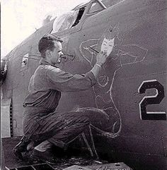 WWII Pin-up (airplane) nose art... in progress