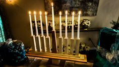 DIY Tabletop Menorah