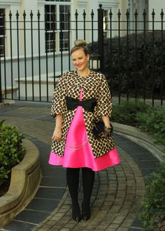 Pink Kate Spade Roset Dress Valentino Leopard Coat Feather Clutch Holiday Party