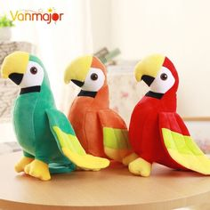1xMini Cute 35cm Simulation Parrot Model Toy Polyethylene/&Furs Bird Doll 3 Color