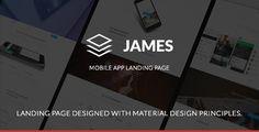 James - Material Design Mobile App Landing Page
