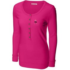 New York Giants Ladies Breast Cancer Awareness Long Sleeve Henley T-Shirt  New England Patriots 6705f7032