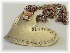 Handcrafted custom pendant.