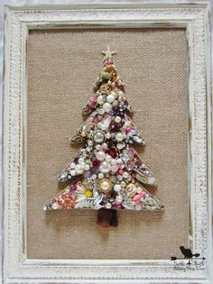 Jewelry Christmas Tree Pink Christmas Tree by northandsouthshabby