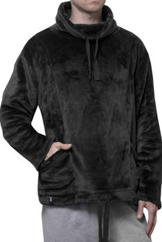 Mens SockShop Heat Holders Snugover Fleece Jumper In Black  £25.99