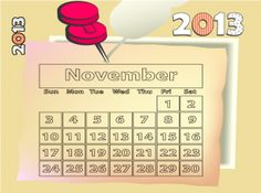 Keep track of all your plans with FREE printable calendars. #November.  Repin and share.