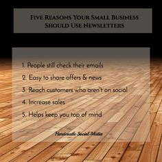 Five Reasons Your Small Business Should Use Newsletters - Hardcastle Social Media