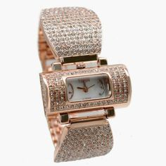FW870A New Rectangular Rose Gold Tone Watchcase White Dial Ladies Bracelet Watch