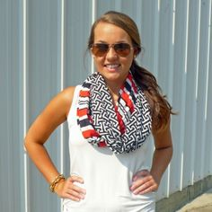 Game Day Scarf Black/Red- MUDPIE Another great choice for U of L game day