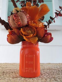 Mason Jar Flowers Mason Jar Peony by SilvaLiningDesigns on Etsy