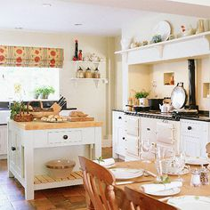 Country kitchen, with different blinds!