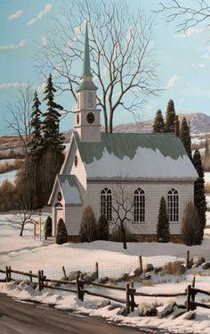 Church love white churches in snow can't get enough