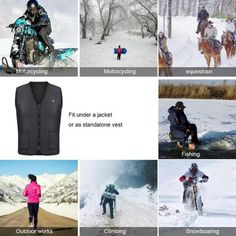 Extra Off Coupon So Cheap Usb Heater Hunting Vest Heated Jacket Heating Winter Clothes Men Thermal Outdoor Winter Vest, Winter Jackets, Women's Jackets, Jean Vest Outfits, Outdoor Reisen, Black Waistcoat, Hunting Vest, Cargo Vest, Ski