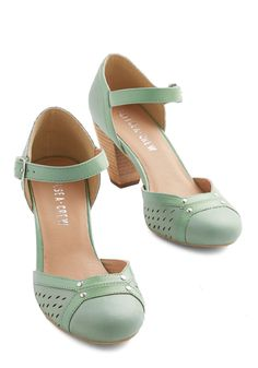 Meet Me on the Parquet Heel. Your Chelsea Crew heels click against the wooden floor as you make your way to the center of the crowd. #mint #wedding #modcloth