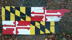 Rustic Maryland flag