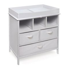 Viv Rae Willow Camille Reign Baby Changing Table With 3 Baskets Finish White