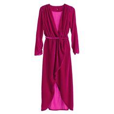 Asymmetric magenta silk velvet dress #Asymmetric #magenta #silk #velvet #SilkVELVET #dress Magenta, Velvet, V Neck, Silk, Model, How To Wear, Winter, Dresses, Design