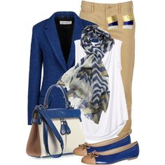 blue chevron, created by sagramora on Polyvore