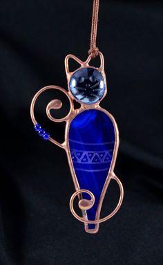 Cat lover gift, stained glass cat, cat ornament, cat gift, cat decor, pet gift, cat suncatcher, animal stain glass, Christmas ornament
