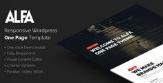 Alfa - Responsive Parallax WordPress Theme (WordPress, Creative)