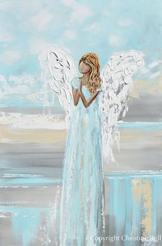 Angel Artwork, Angel Paintings, Spiritual Paintings, White Wall Art, Christmas Paintings, Diy Painting, Hope Painting, Paint By Number, Pictures To Paint