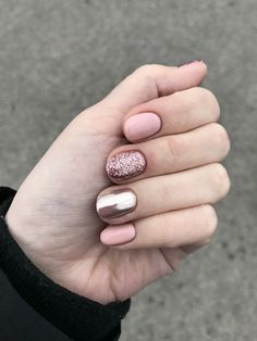 nails - perfect winter nail designs to make you feel warm 4 - Cute Summer Nail Designs, Cute Summer Nails, Winter Nail Designs, Short Nail Designs, Simple Nail Designs, Cute Nails, Pretty Nails, My Nails, Manicure For Short Nails