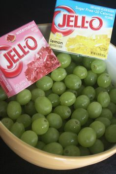 Healthy Summer Snack U2013 Glittery Sour Patch Grapes   By Rolling Fresh Grapes  In Unprepared Jello Mix You Are Left With A Healthy Summer Snack That  Tastes ...