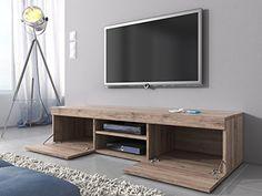 Mobile porta TV Mambo, in rovere chiaro (Sonoma), 160 cm: Amazon.it ...