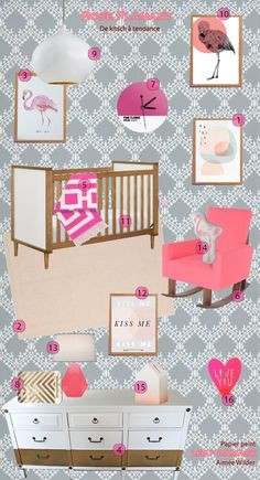 Pink flamingo nursery! This is beyond adorable!! Ok so next baby..if boy nursery will be owls and if girl pink flamingos! =)