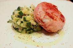 Tomini con speck e dadolata di zucchine